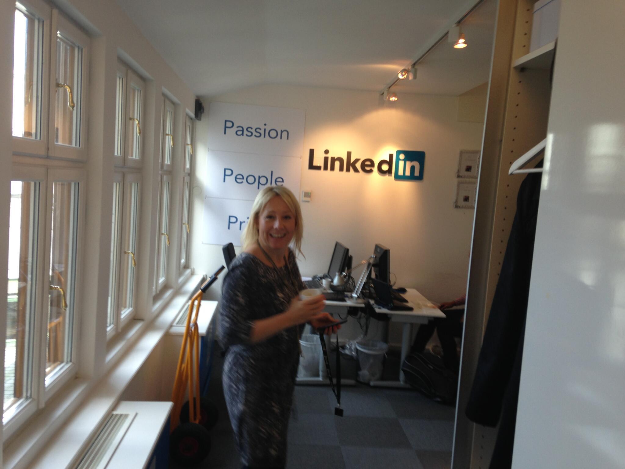 På besök på LinkedIn Sverige kontoret