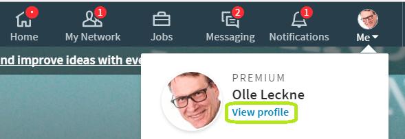 Linkedin profil och språkval