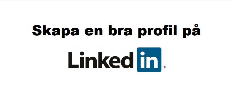 Optimera din LinkedIn™ profil