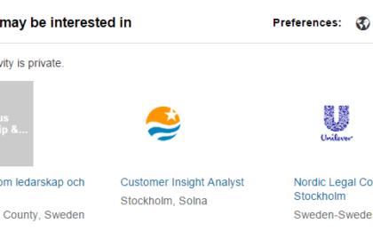Jobbsökning med LinkedIn