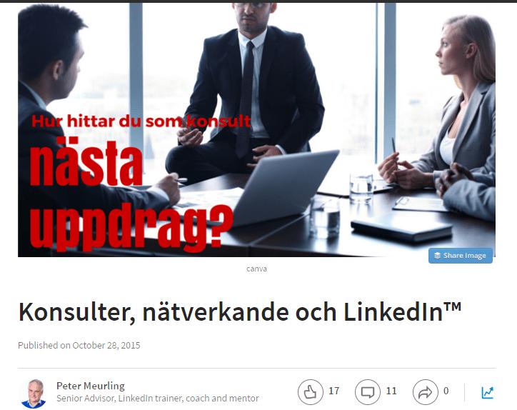 Linkedin för konsulter