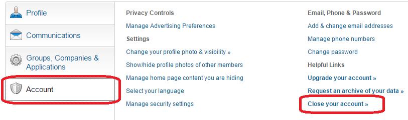 Ta bort en LinkedIn™ profil?