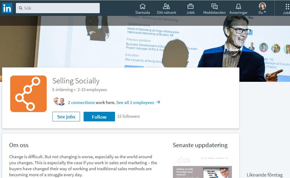 Företagssida – LinkedIn™ company page