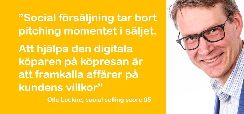 Social selling tar bort pitching momentet