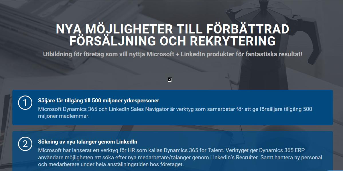 Förbättrad försäljning och rekrytering med LinkedIn och Microsoft Dynamics 365