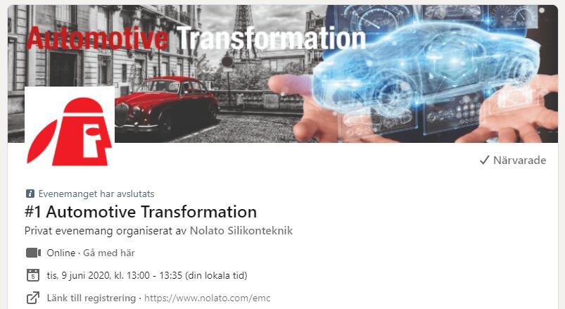automotive transformation webinar i Linkedin event
